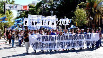 Los docentes nucleados en ATEN ya protagonizaron nueve días de paro y varias manifestaciones este mes.