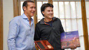 El ex tenista Guillermo Coria pasó por la Casa de Gobierno
