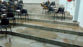 Se inundaron aulas de la UNCo y no hay clases hasta el jueves
