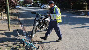 un nene resulto herido tras ser atropellado por una moto