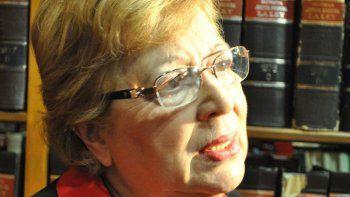 Clara Langhe, presidenta del Superior Tribunal de Justicia.