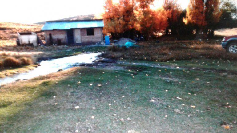 La precaria casa donde fue encontrado asesinado José Elías Palma.