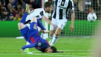 Así fue la tremenda caída de Messi ante Juventus