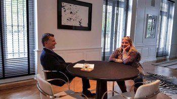 El Presidente y la diputada de la CC se reunieron en la Quinta de Olivos.