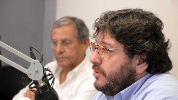 El ministro de Cultura de Nación junto al intendente Horacio Quiroga en LU5.