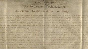 Es una copia de la Declaración de la Independencia del país.
