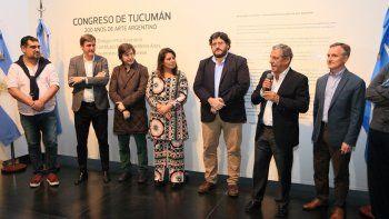 El intendente Horacio Quiroga se refirió a la importancia de federalizar la cultura nacional en la apertura de la muestra.