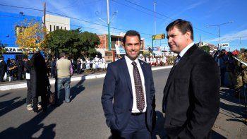 El concejal Gustavo Iril junto a su par Fernando Doroschenco.