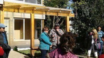 La intendenta estuvo en la inauguración de la primera casa semilla.