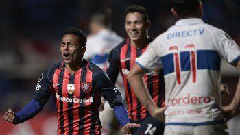 El juvenil Barrios, que hacía dos minutos había ingresado por Belluschi, puso la cabeza para sumar los 3 puntos.