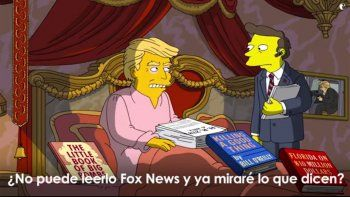 los simpsons se burlan de los 100 dias de la gestion de trump con un video