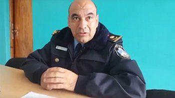 El comisario Humberto Crisóstomo brindó detalles de la detención.