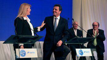 El referente del FR y la líder del GEN ayer se mostraron juntos.
