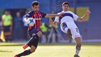 san lorenzo se recupero en el campeonato y derroto a gimnasia