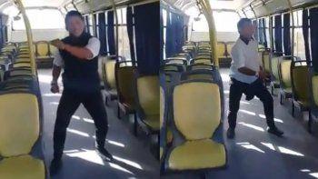 El baile del colectivero hot se hizo viral y ya tiene el aprobado del conductor. ¿Quedará?