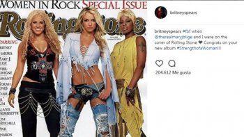 La rubia publicó una tapa de Rolling Stone y se olvidó de Shakira.