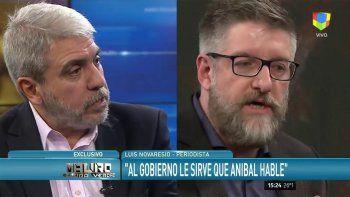 El picante cruce entre Aníbal Fernández y Luis Novaresio
