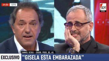 Scioli: Gisela está embarazada y voy a ser papá a los 60 años