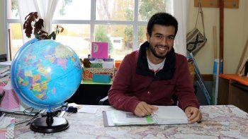 Jeremías Porma Favre cursa 5º año en la escuela agrotécnica Centro de Educación Integral en Junín de los Andes.