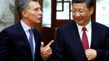 mauricio macri ceno con el presidente chino