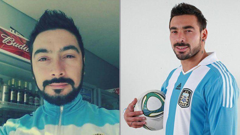 Darío Ovando dice que es el doble neuquino del Pocho Lavezzi.