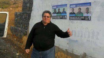 Juan Guillermo Antuña, el delegado de ATE que estuvo prófugo un año.