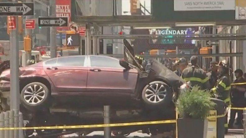 Una neuquina grabó el trágico choque que causó pánico en el Times Square