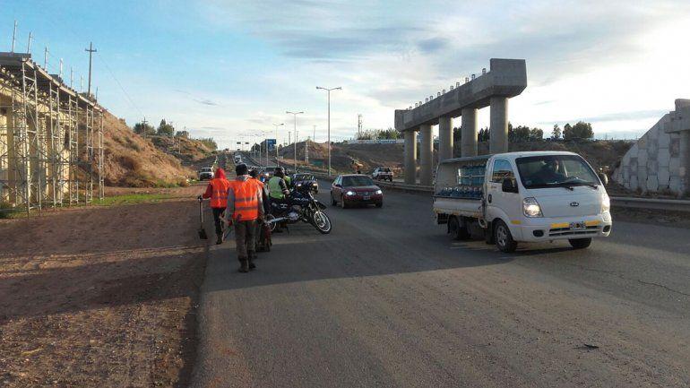 Demoras y eternas colas en la Ruta 7 por las obras viales
