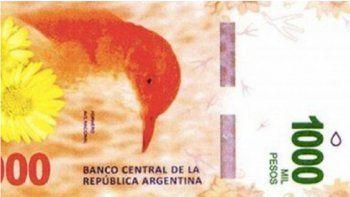 Apuran el lanzamiento del billete de mil pesos