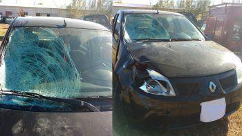 Así quedó el auto que manejaba el joven petrolero de 24 años.