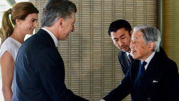 En su última actividad oficial, Macri estuvo con el emperador Akihito.