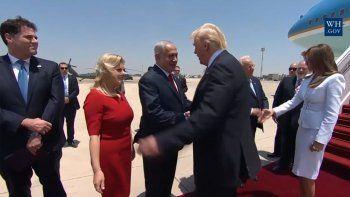 trump llego a israel en su primer gira internacional