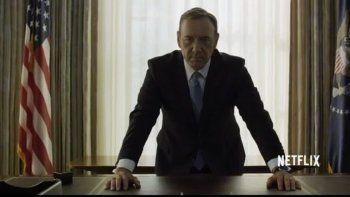 Kevin Spacey sigue convocando a la audiencia mundial con House of Cards.
