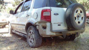 La camioneta secuestrada en la que iba Facundo Vázquez el día del robo.