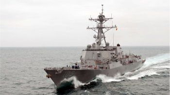 Impactante destructor de Trump en el mar chino
