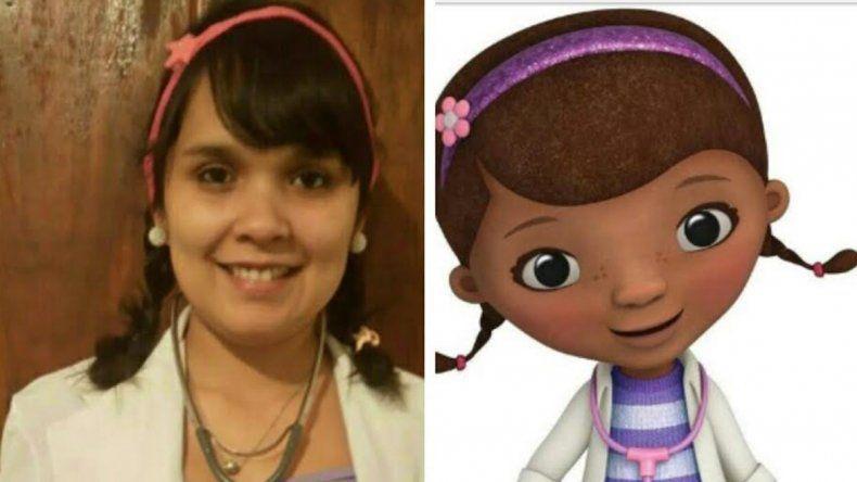 María Álvarez (DNI 736) se reconoce como la doble de la Doctora Juguetes de Disney.