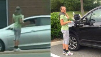 La mujer vive en Virginia, Estados Unidos. El joven que la vio y la increpó subió el video a Youtube.