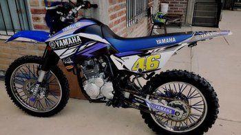 La Yamaha 250 que le robaron al joven cuando pretendía venderla.