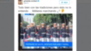 le llovieron las criticas por una polemica publicacion en twitter