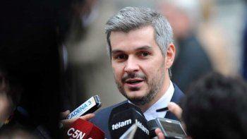 El jefe de Gabinete, Marcos Peña, defendió al acusado Gustavo Arribas.