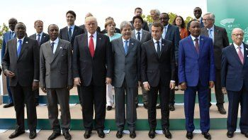 Ayer a la tarde, al término de la cumbre del G7, Trump regresó a su país.