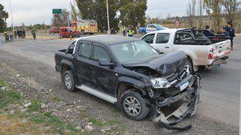 Un camión provocó un tremendo choque en cadena