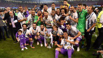 La foto del campeón. El Real le metió a la Juve más goles en un solo partido de los que había sufrido en todo el torneo.