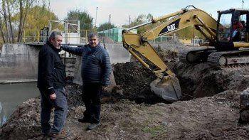 confirman el avance de las obras en el arroyo duran
