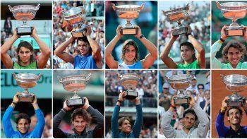 Rey de París. Se coronó en Roland Garros y se convirtió en el primero en tener 10 coronas de un GS.
