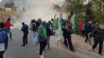 Una protesta de ATE terminó con balas de goma y heridos