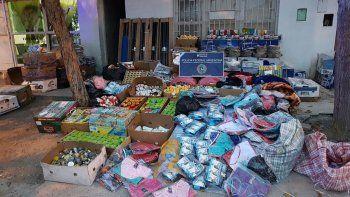 Todo los productos fueron secuestrados el martes tras el allanamiento que realizó la Policía Federal en conjunto con personal de Aduanas.
