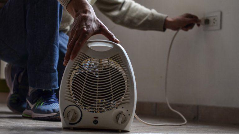 Quienes deban calentarse con artefactos eléctricos por falta de gas tendrán beneficios en la tarifa de CALF.