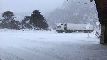 El Paso Internacional Pino Hachado se cerró esta mañana debido a las malas condiciones climáticas.