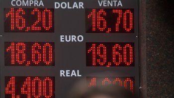 El dólar finalmente cerró en $16,54 y el Merval se desplomó.